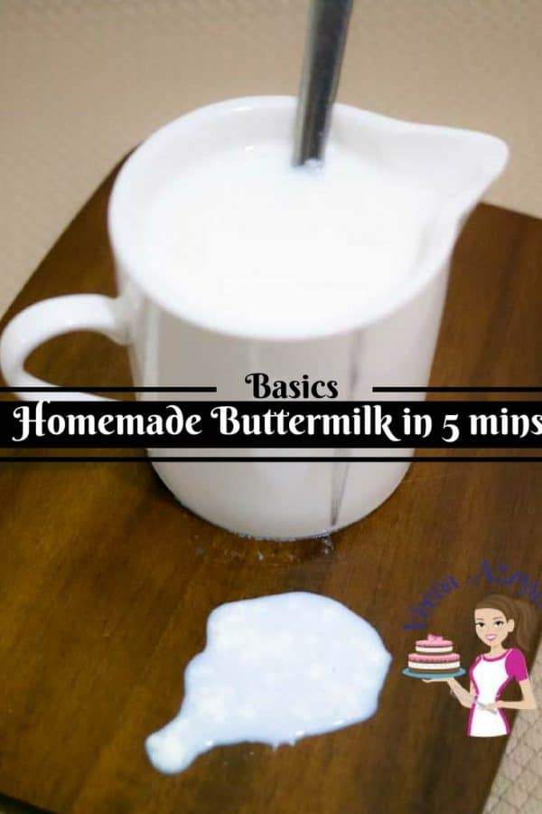 Many recipes now a days use buttermilk but often there is none at home? You can make Homemade Buttermilk in as little as five minutes its so simple and easy