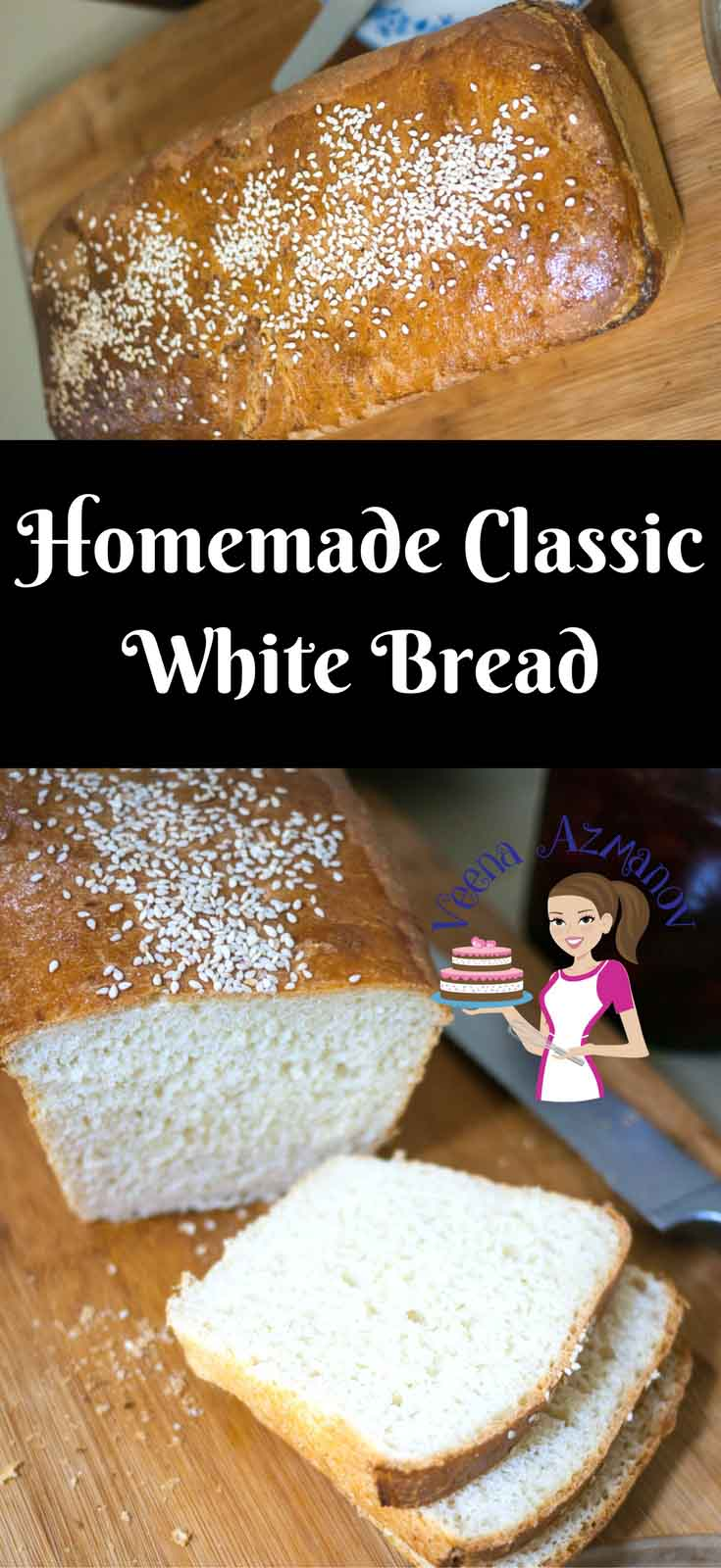 This Homemade classic white bread recipe is a simple and easy full proof recipe that will guarantee you a good loaf every single time. Light and airy, you can serve with butter, jam or with dinner. Perfect for sandwiches. Use left over for delicious French toast.