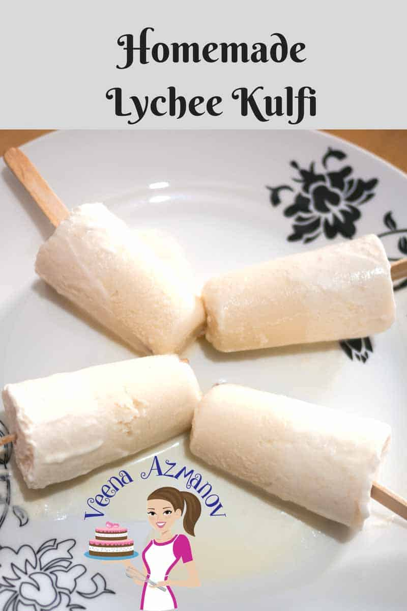 Kulfi is an Indian ice cream and absolutely delicious. This Homemade Lychee Kulfi is so simplified it will get you hooked on to make it over and over again.