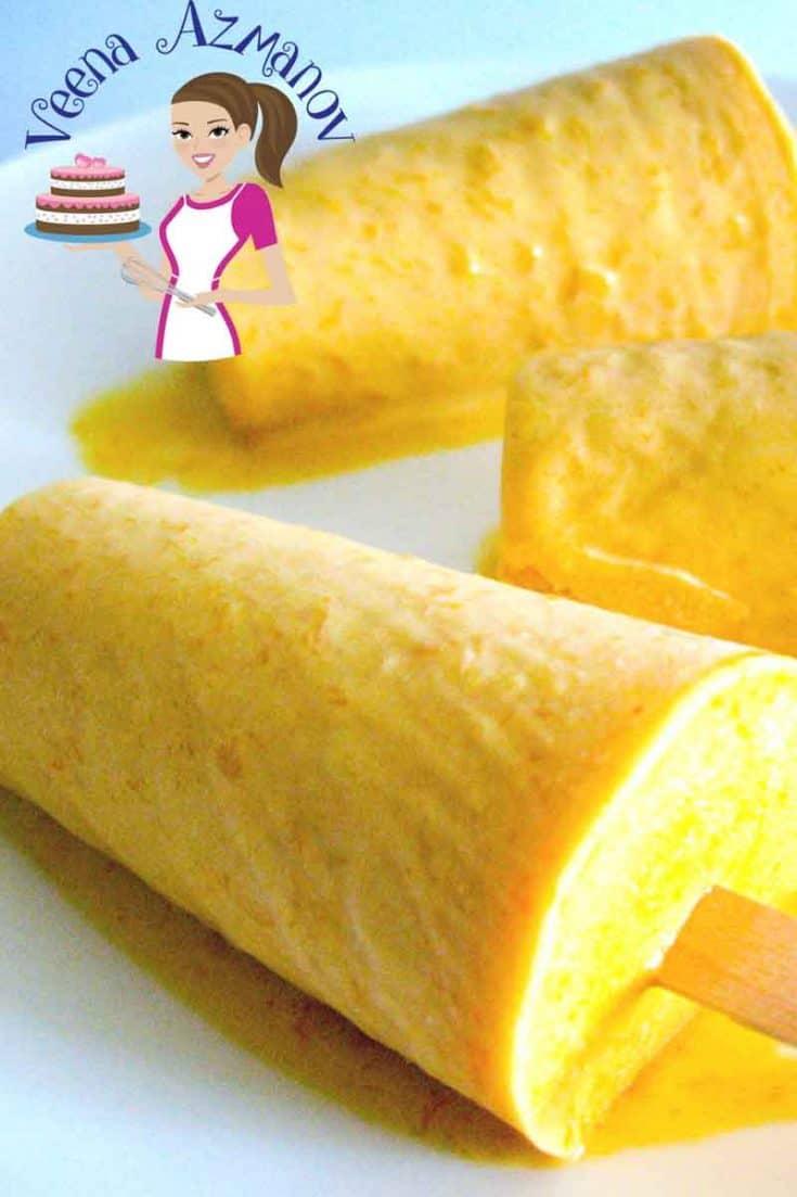 Instant Mango Kulfi - Mango Kulfi with Whipped Cream
