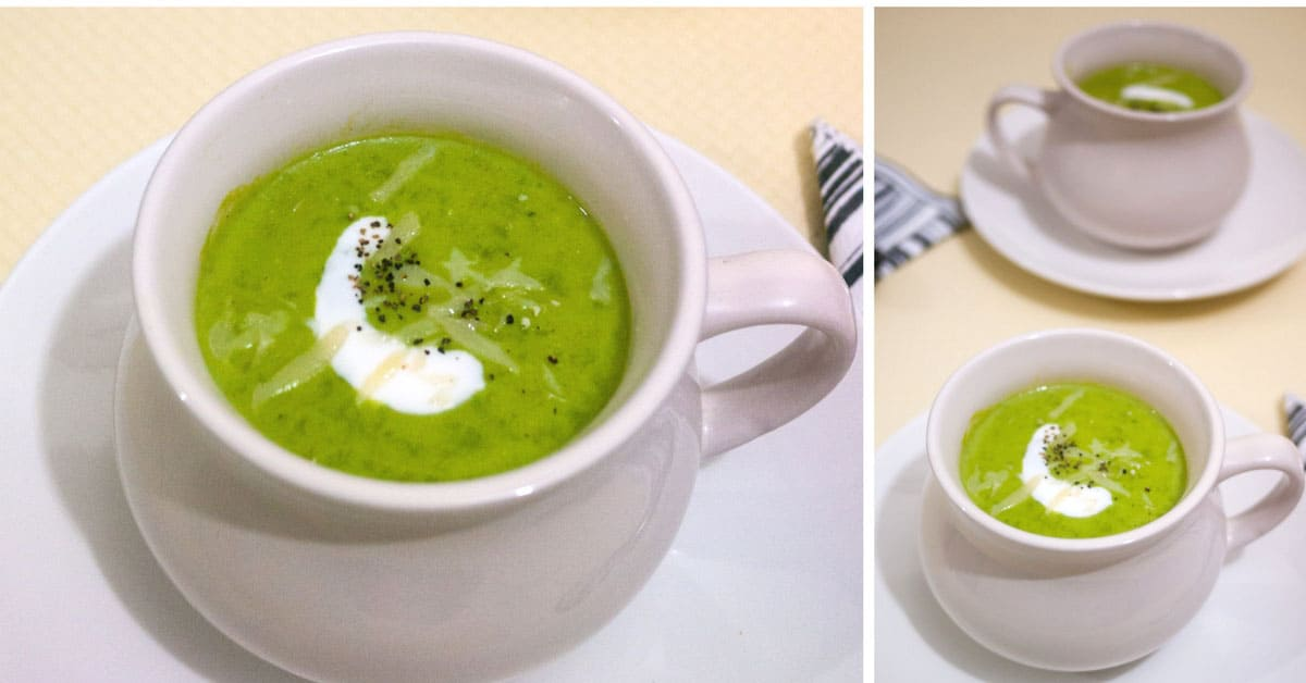 Creamy Homemade Sweet Pea Soup with Frozen Green Pea
