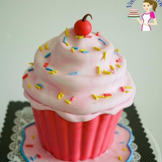 A giant cupcake cake makes a fun and adorable cake for anyone at any age at five or fifty. This simple, easy giant cupcake tutorial will have you making it more often than you planned. Whether you are a home baker or a professional cake decorator a giant cupcake is one fun cake to make for family or customers.