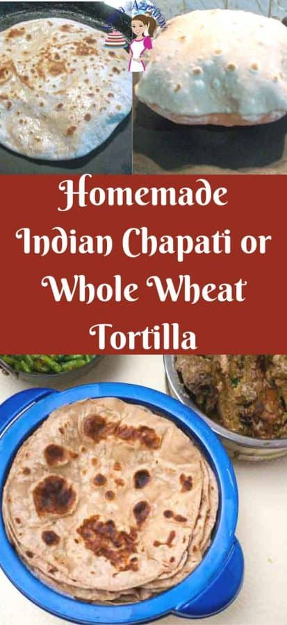 Indian Chapati is a flat bread recipe made with whole wheat flour. It's much healthier, delicious and easy to make with no special skill or gadgets needed. You can serve them with Indian food or use as a wrap for sandwiches too.