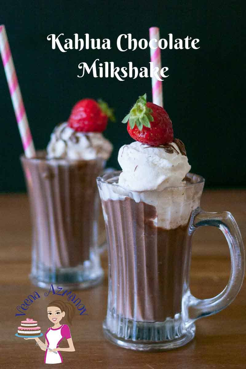 This Kahlua chocolate milkshake is made with my homemade cocoa mix. It's rich, chocolaty and has the thickness of pouring vanilla pastry cream. And of course Kahlua which makes everything better. Doesn't it?