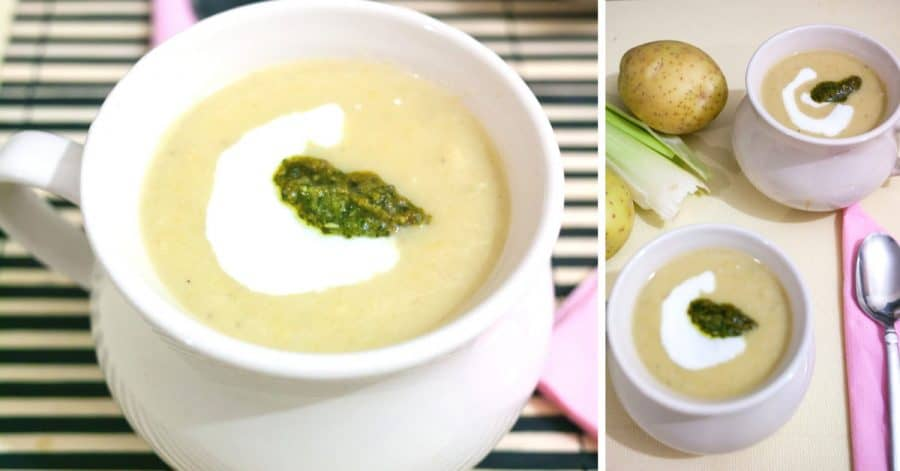 A healthier potato leek soup in less than 30 minutes with nutritious leeks and wholesome potatoes.