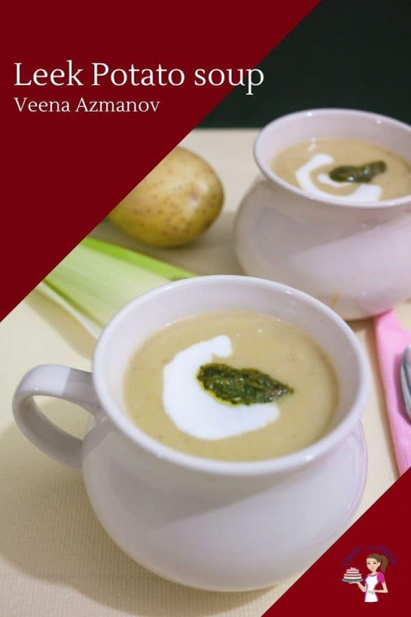 How to make homemade soup with potatoes and leeks