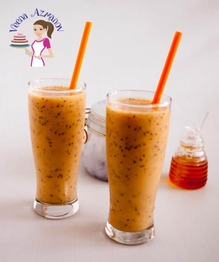 Mango Chia Smoothie - Healthy Mango Smoothie Recipe
