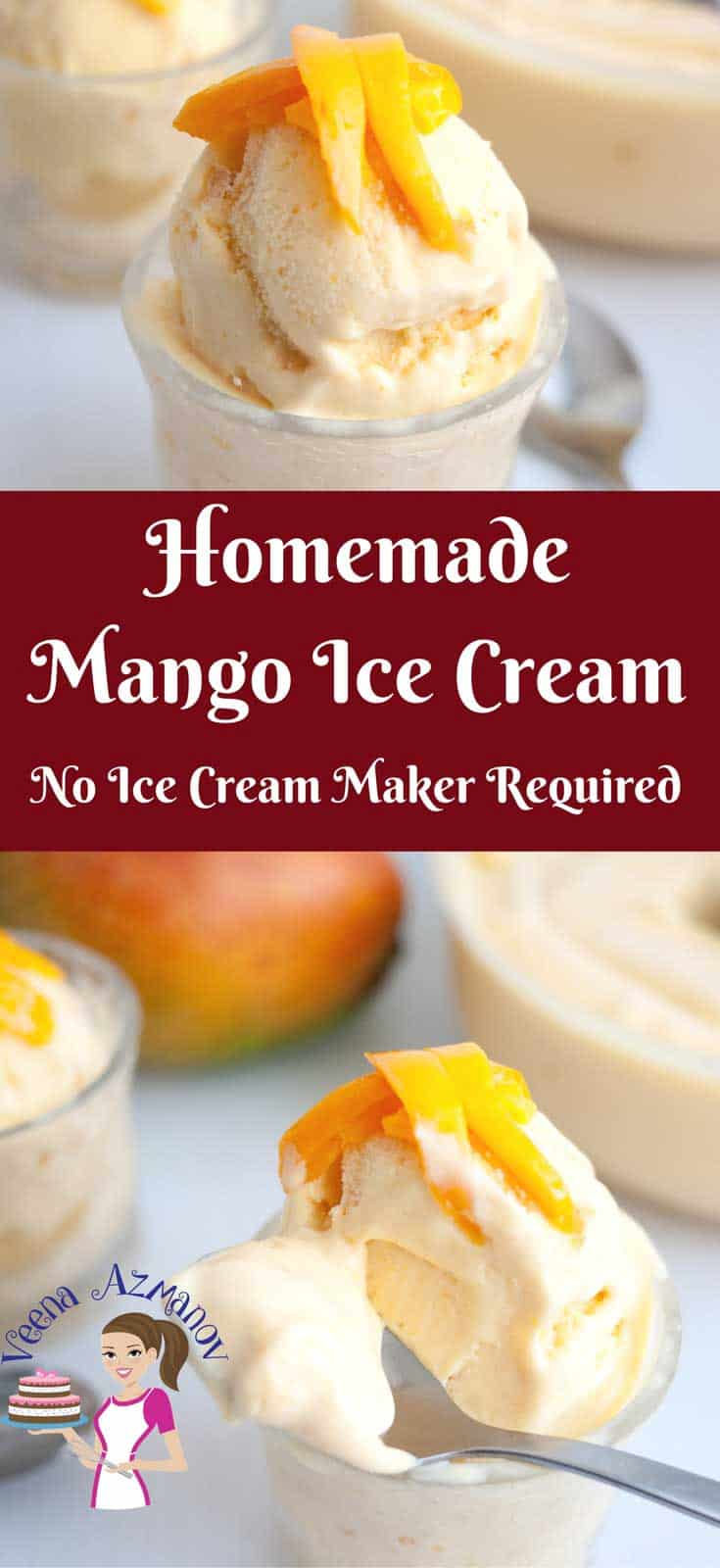 This exotic summer fruit has so much potential, like this creamy homemade mango ice cream. Made with rich French vanilla pastry cream as a base; lots of thick mango puree and whipped cream for that added creaminess.