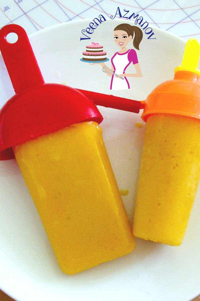 Creamy Homemade Mango Popsicle – Mango Yogurt Pops