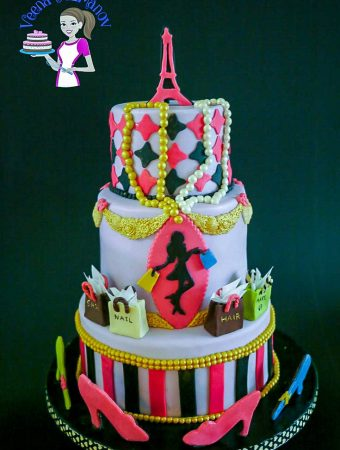 Paris Fashion Theme Cake – Paris Themed Cake