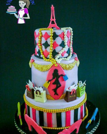 A Paris fashion theme cake.