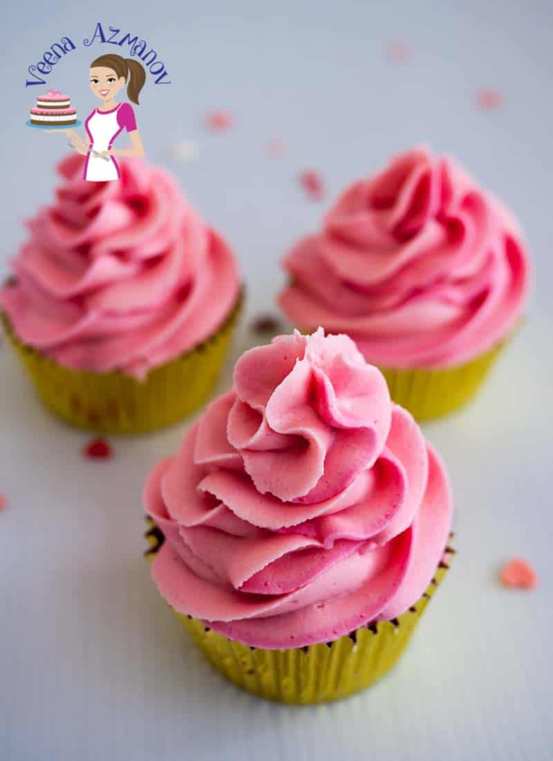 Pink Champagne Cupcakes are moist and delicious baked from scratch using Champagne reduction from cupcake to frosting. Decorated with pretty pink swirls of Pink Champagne buttercream these will make an impressing addition to any special occasion be it mothers day , valentine's day or wedding.