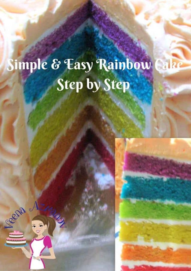 Nothing beats having a rainbow cake to celebrate your kids birthday party. This rainbow cake is not just simple, easy and delicious but also uses my one bowl vanilla cake batter that makes preparing the batter super quick and effortless.