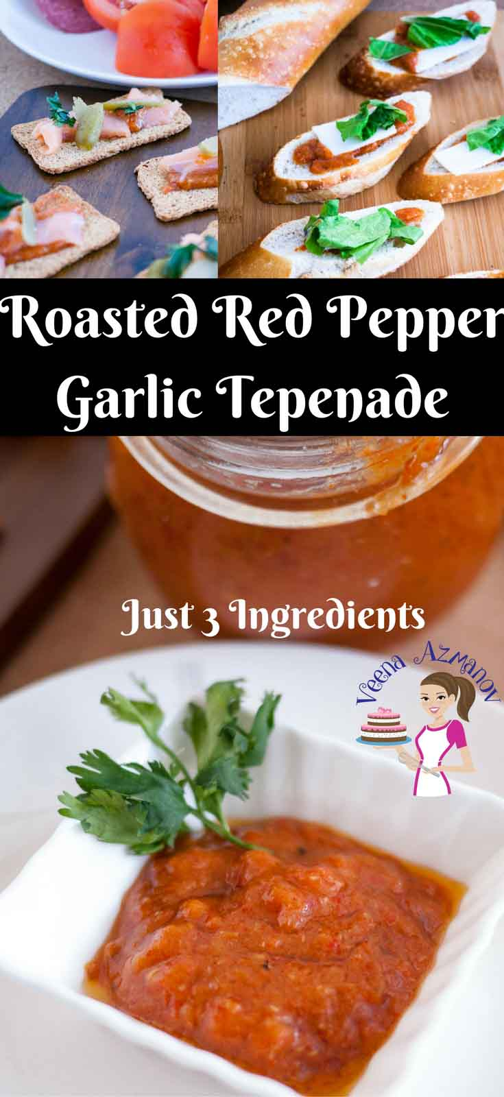 A tepenade is a must have on hand for easy sandwich spreads, tortilla wraps and appetizers. This roasted red pepper garlic tepenade is our family favorite, super easy, quick and simple to make. You will be totally addicted to it