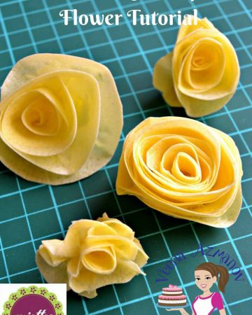 A wafer paper flower.