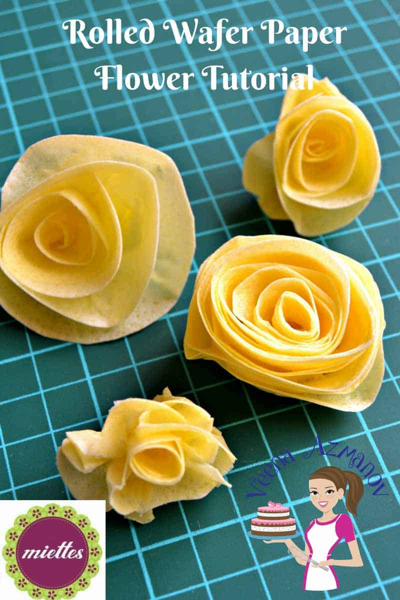 Rolled Wafer Paper Flower Tutorial – Simple Quick and Easy