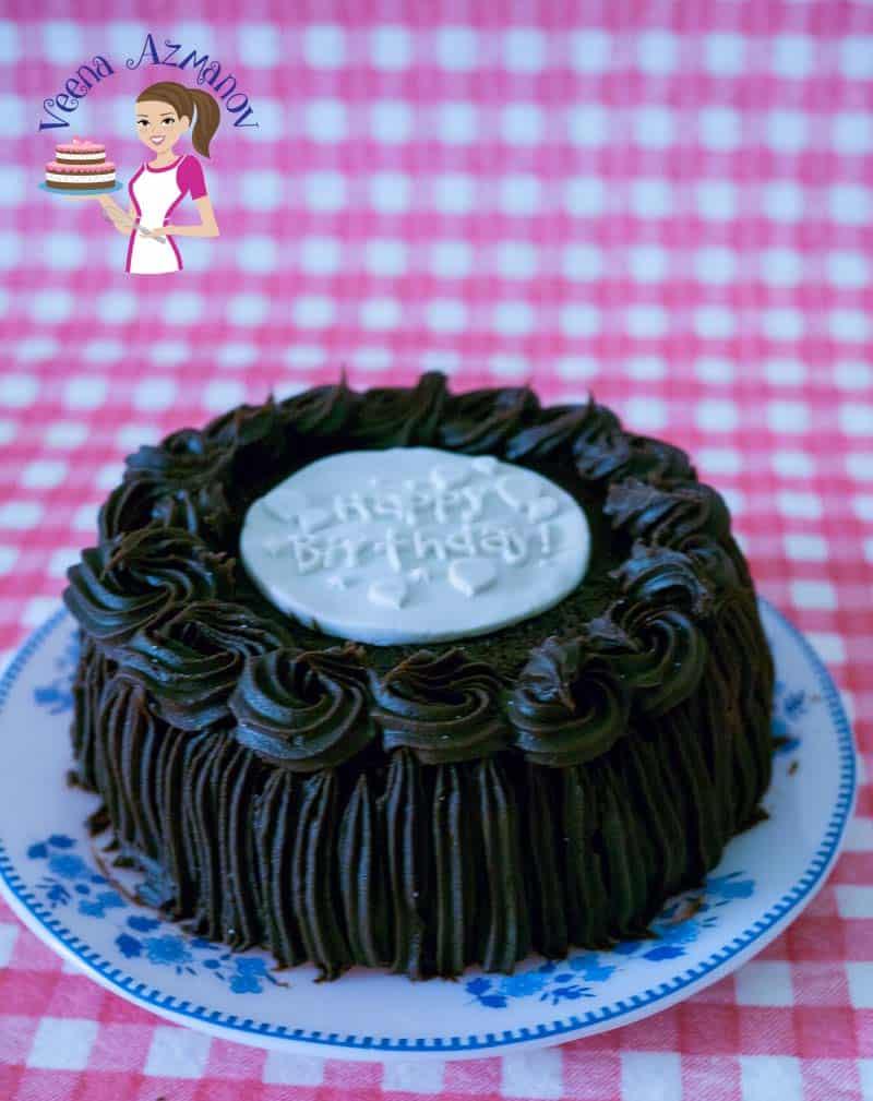 Simple Moist Chocolate Cake Recipe - Veena Azmanov