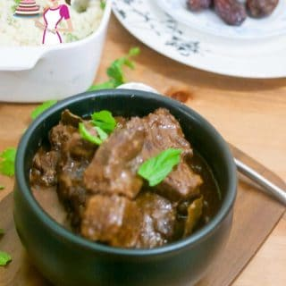 This Moroccan slow cooked beef with dates is easy, simple, tender and melts in the mouth. It has a hand on time of just 10 minutes but is slow cooked for two hours. While the dates add tender sweetness to the beef the hot paprika add that little zing of spice.