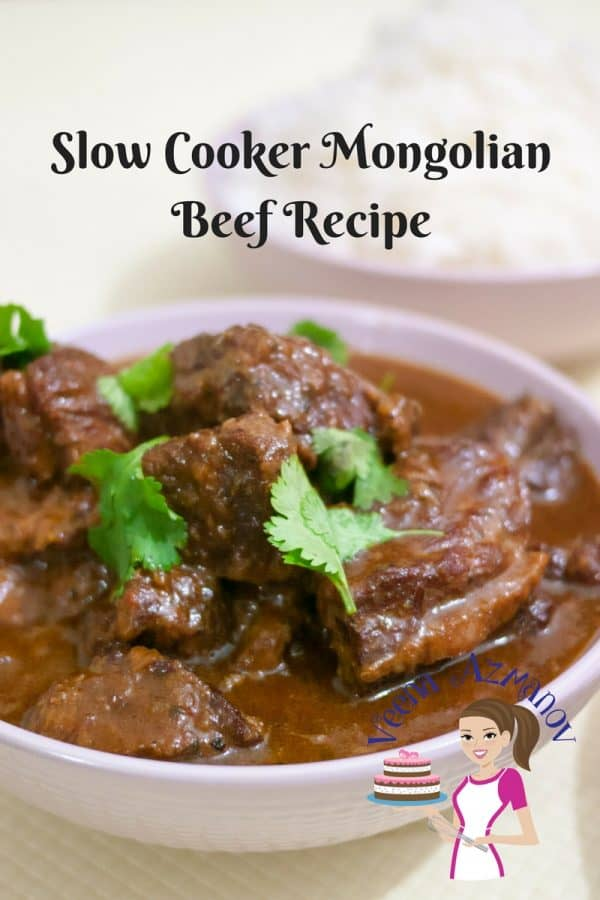 An image optimized for social media share for this step by step tutorial on how to make slow cooker Mongolian Beef Recipe