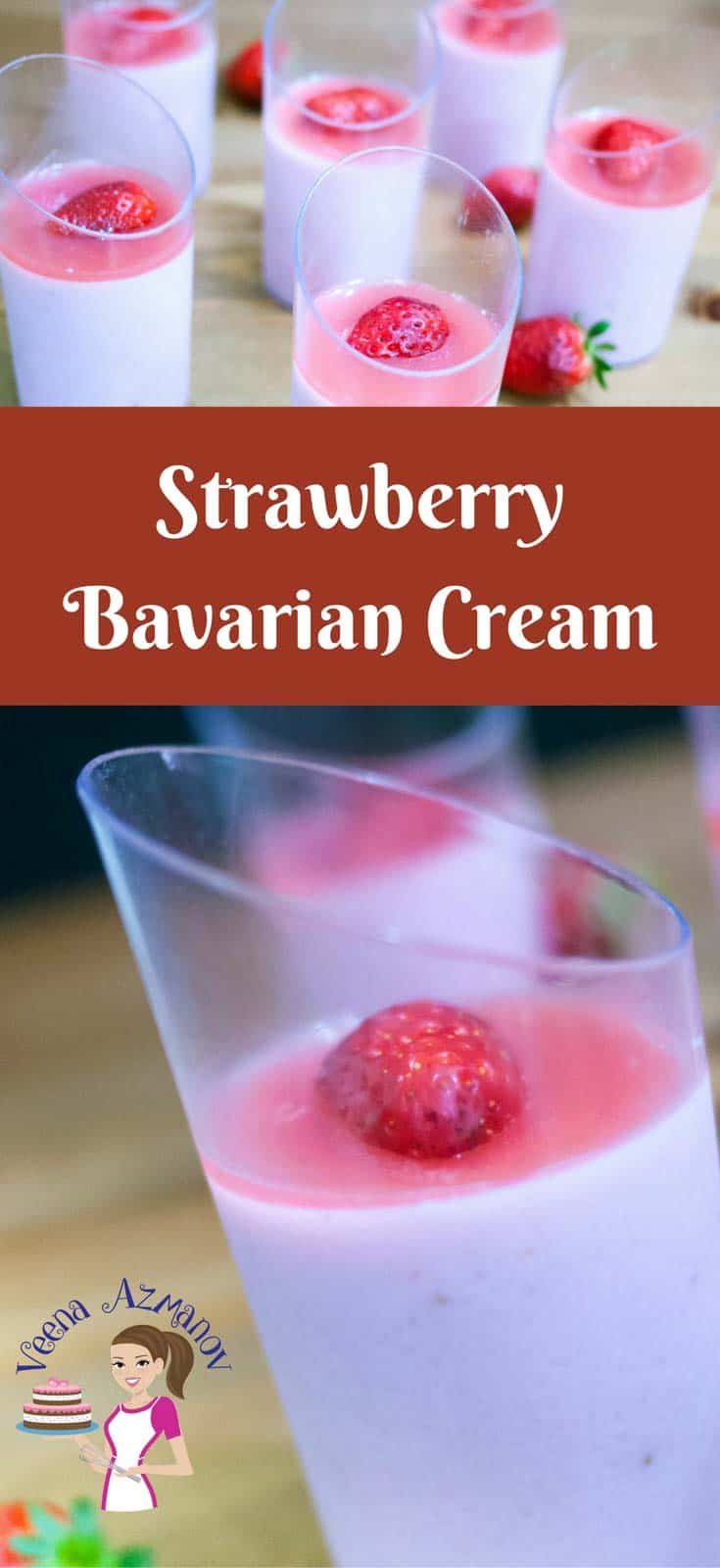 The Classic strawberry Bavarian cream often calledCreme Bavaria is a pastry cream based dessert with the luxury of whipped cream and strawberry. Rich, delicious but super easy to create. A few extra steps in the making but a truly impressive desert if you want to impress friend and family.