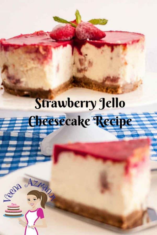 Strawberry Jello cheesecake is an all time classic that everybody loves. Try this jello topping for variation because it's is so easy to make and so delicious to eat.