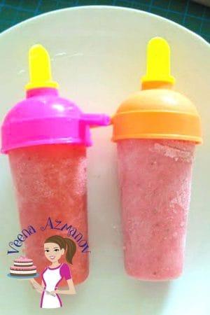 Homemade Strawberry Popsicle – Strawberry Yogurt Pops