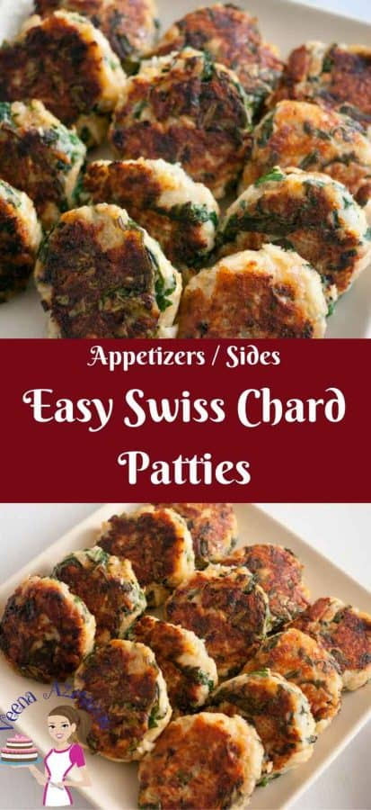 Swiss Chard Patties or Swiss Chard Cake make amazing healthy appetizers or sides for the family