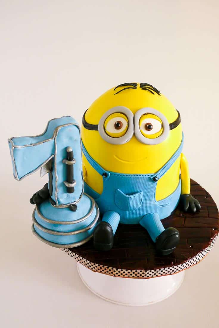 Minion with the Fart Gun - for how to make a minion cake tutorial - Simple easy and step by step progress pictures