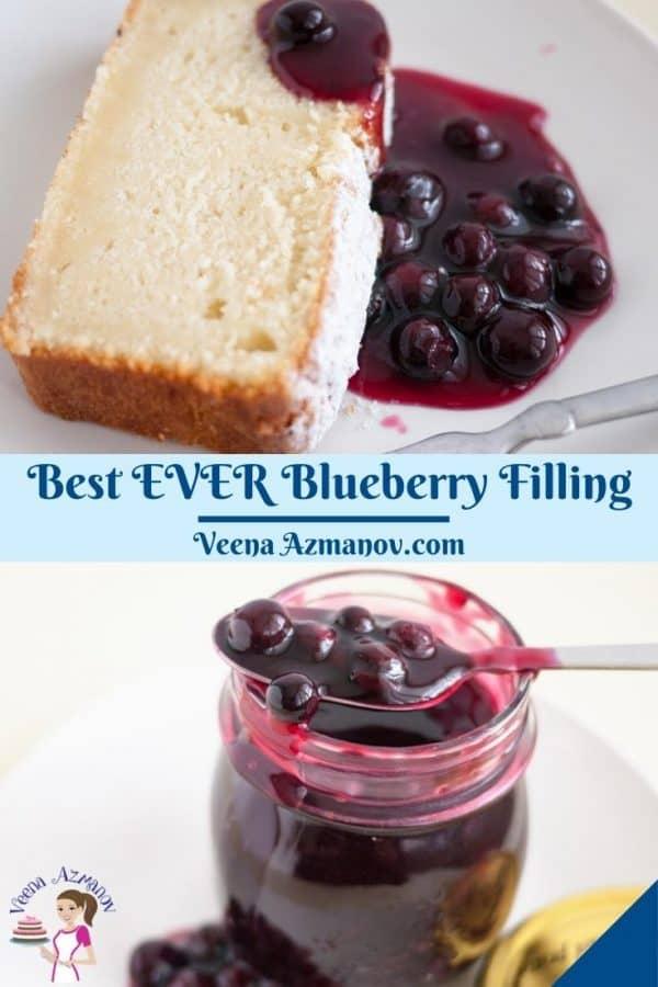 Pinterest image for blueberry filling.
