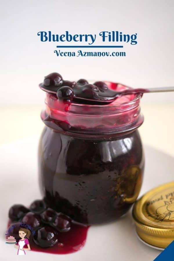 Pinterest image for fruit filling blueberries.