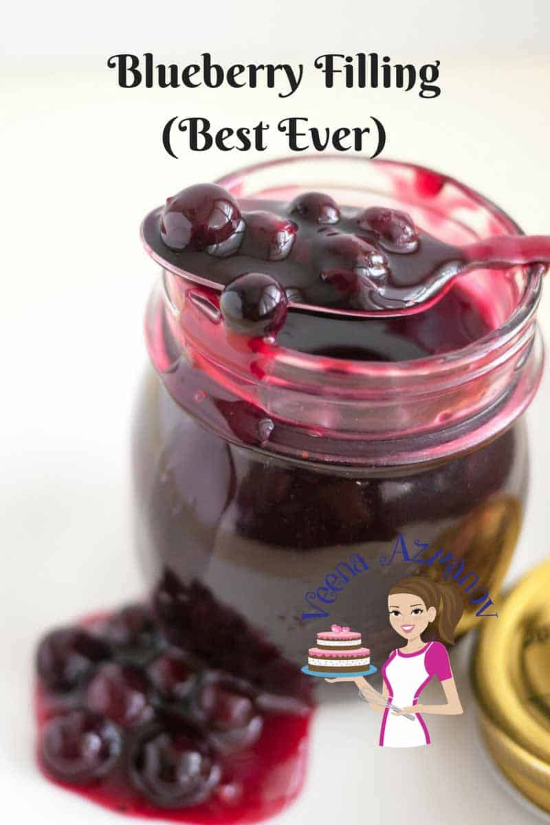 This homemade Blueberry Filling Recipe is simple and easy. It can made from fresh or frozen blueberries. This filling is so versatile it goes well as a cake filling, pie filling or on the side of a delicious dessert like my classic pound cake recipe.