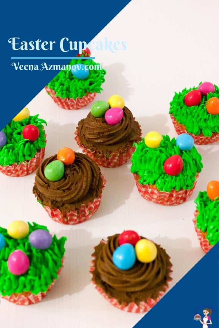 Pinterest image for carrot cupcakes