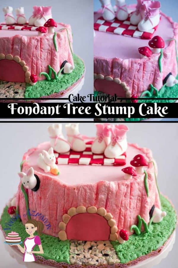Learn to create a realistic Fondant tree stump cake. In this video tutorial; I show you how to create a tree bark texture with just a piece of foil and the back of a knife. There are endless possibilities to a tree stump from baby shower, birthday, wedding, and even grooms cake.