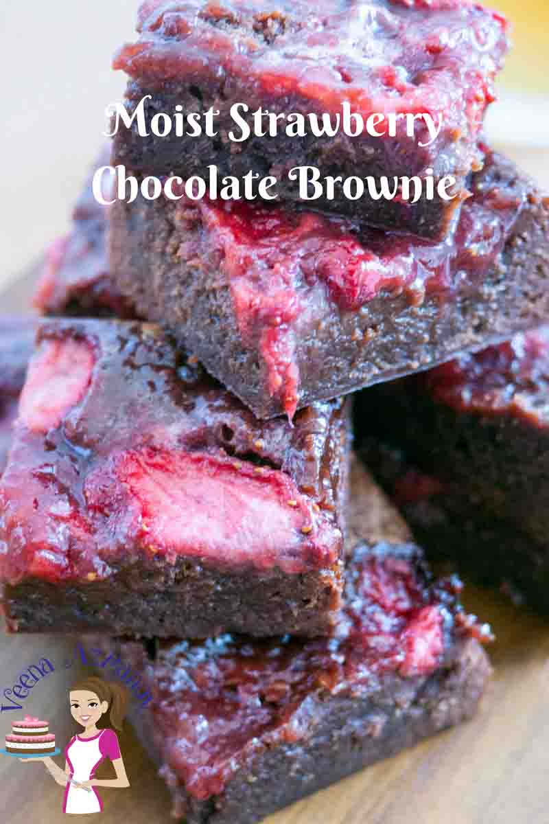 These are the perfect moist strawberry chocolate brownie recipe you will ever eat. An extension to my most popular dark chocolate brownies these are topped with sweet syrupy strawberries then baked into this ultimate luxury.