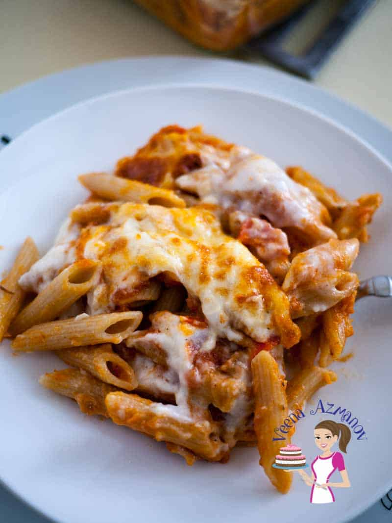 This quick and easy penne lasagna is lasagna made simple. If you wondering why it's so creamy it's because it has both tomato sauce and bechamel sauce plus three different cheeses. Baked into this gorgeous creamy cheesy melting post of flavors.