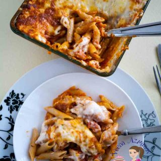 Quick and Easy Lasagna made with Penne Pasta and fresh tomato sauce