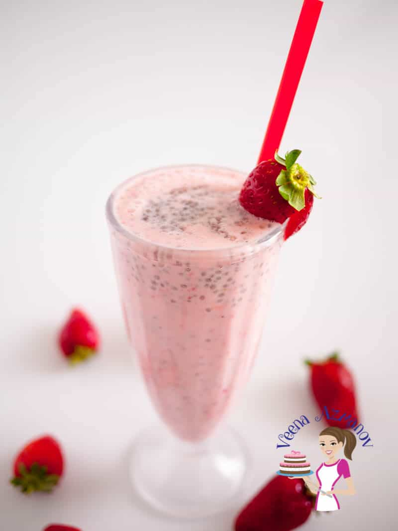 A deliciously refreshing summer Strawberry Banana Chai Smoothie. It's packed with plenty of fruit nutrition and loads of chia energy to boost that summer tiredness and dehydration.