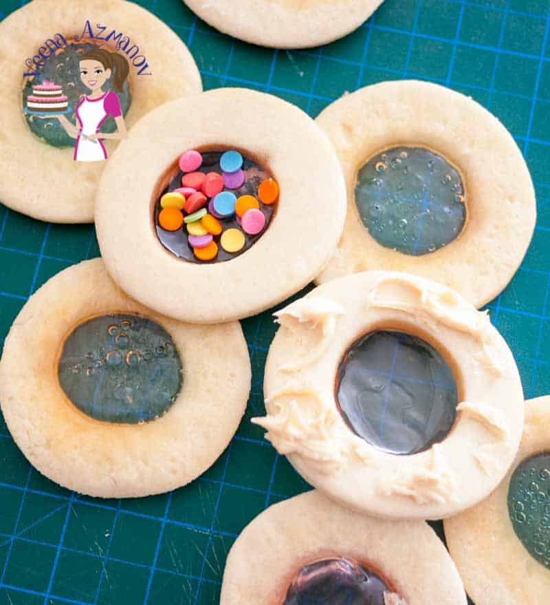 The aquarium cookies are a beautiful twist on the classic stained glass cookies with treats filled in between two cookies. Made with my delicious shortbread cookie as a base these will melt in the mouth while you explore the treats.
