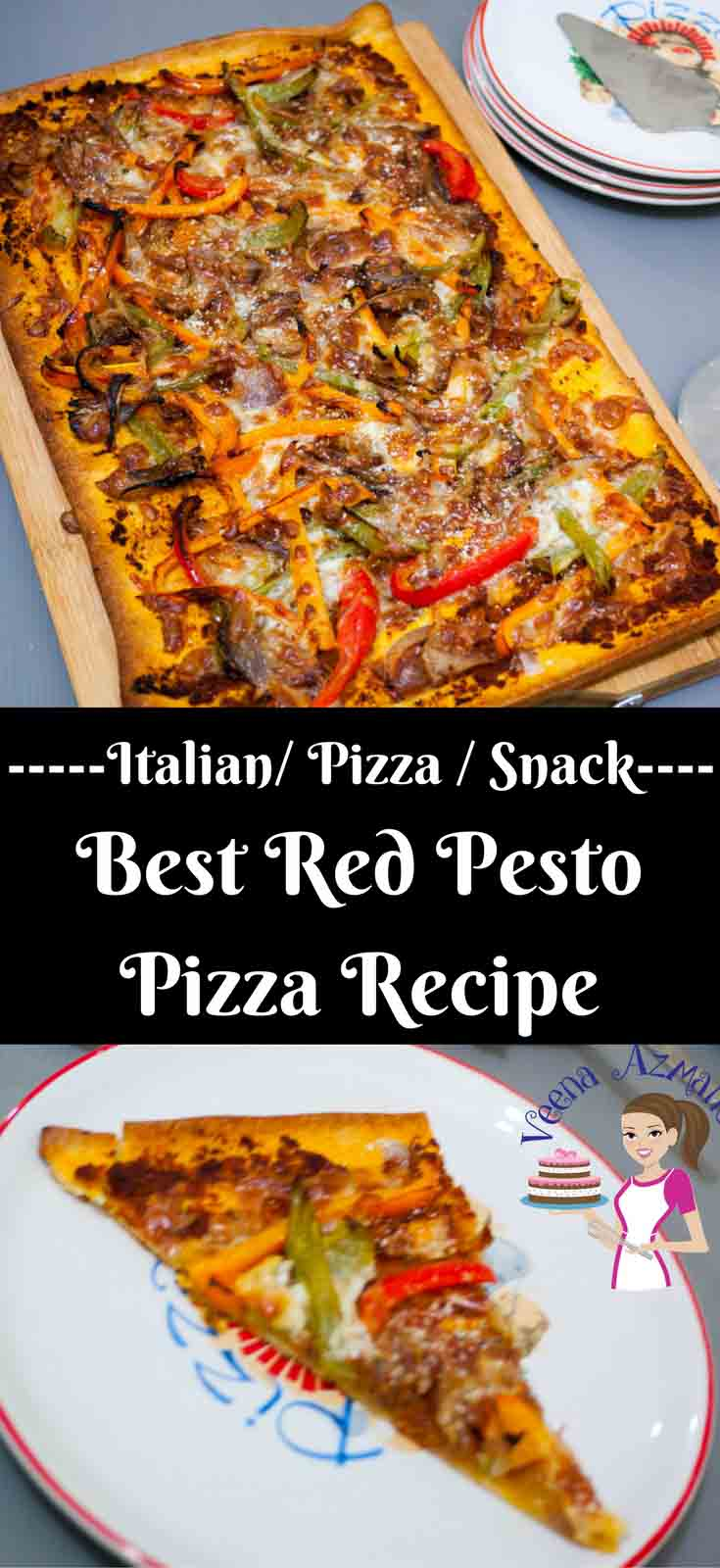 This has got to be the best red pesto pizza with peppers because it's quick, delicious and best of all super easy with almost every thing semi homemade making weekday day or kids snack time a breeze.