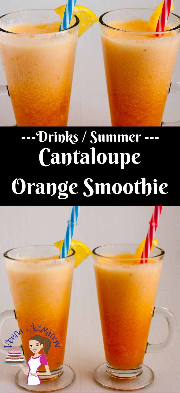 This seasonal summer cantaloupe orange smoothie is a sweet treat you can have any time of the day. Packed full with nutrition and natural sweetness. Yes, Cantaloupe being naturally sweet needs no extra added sugar too!