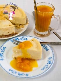 This classic mango cheesecake with mango compote makes an exotic tropical dessert in summer with fresh mango or anytime of the year with frozen mangoes. The natural sweetness and flavor of mangoes makes this a real treat while the recipe itself is simple, easy and classic.