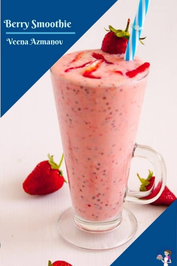 A pinterest image for berry soothie