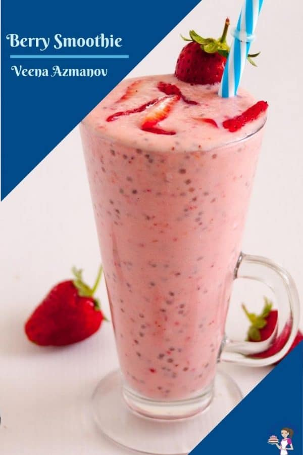 A pinterest friendly image for smoothie