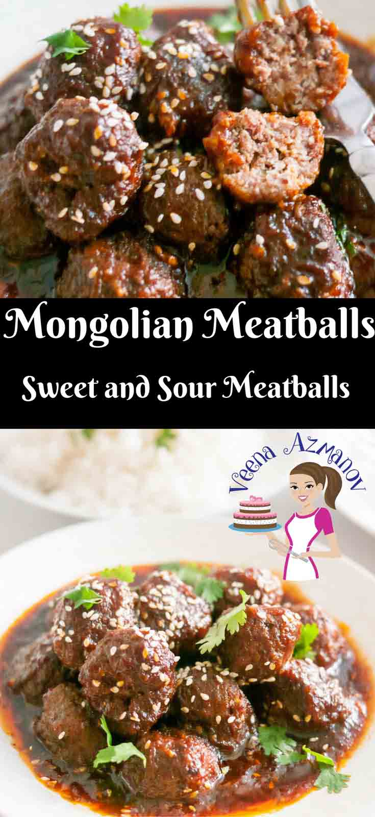 These Mongolian meatballs are tender, juicy with a bit of both sweet and sour. The brown sugar and soy gives it this rich dark glossy color while the vinegar and tomatoes add a nice zing. A great crowd pleaser and best to make extra as these are addictive.