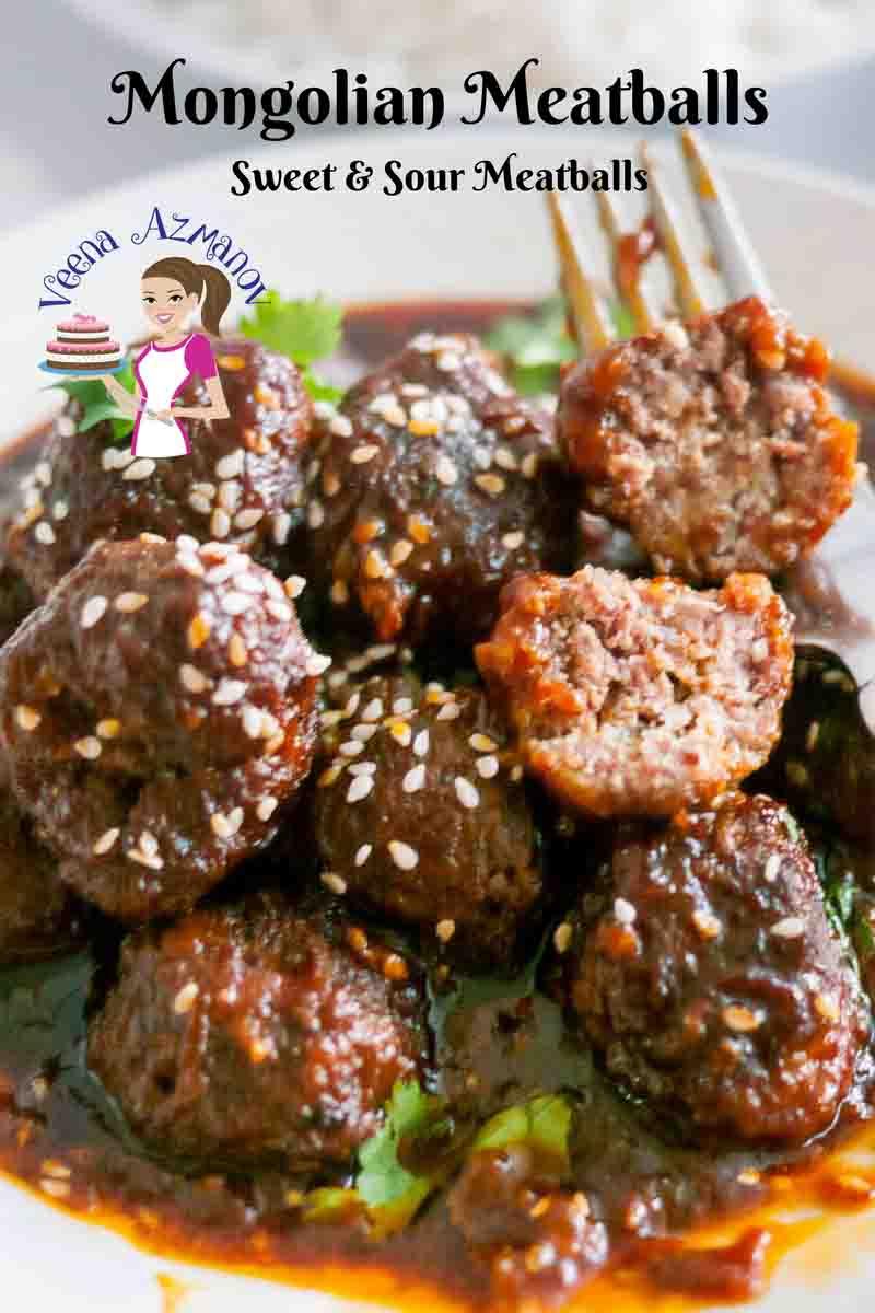 Mongolian Meatballs Recipe Sweet and Sour Meatballs - Veena Azmanov