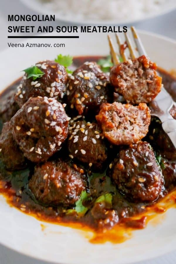 How to make meatballs that sweet and sour, Mongolian style
