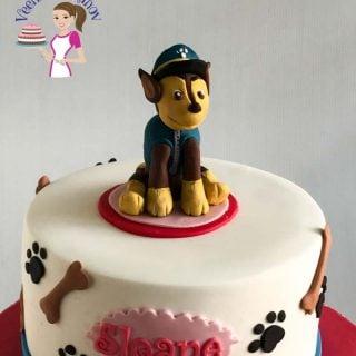 A Paw Patrol cake topper.