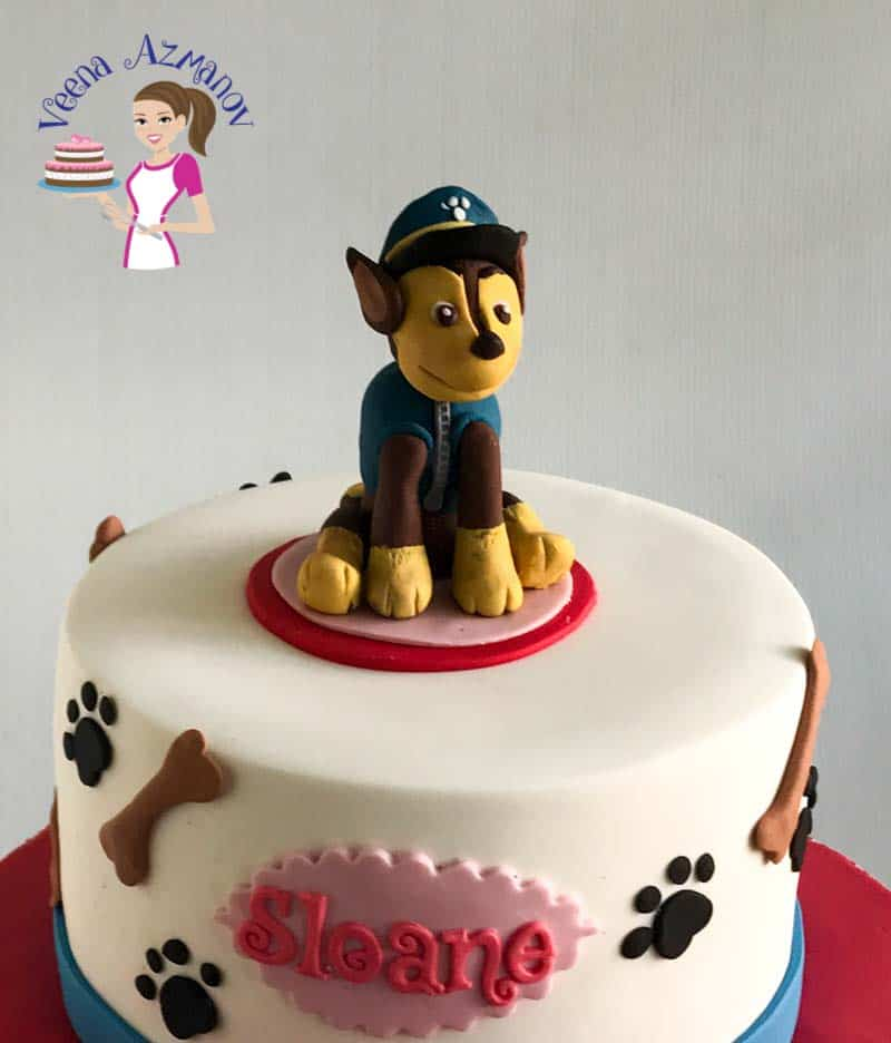 This PAW Petrol Cake with Chase Cake Topper is a based on a popular TV series for kids. The dog's name is chase and so adorable that all kids love him. In this video tutorial I show you how I made the different elements on the cake as well as how I made the dog Chase Cake Topper.
