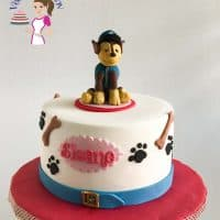 Paw Petrol Cake with Chase Cake Topper Tutorial