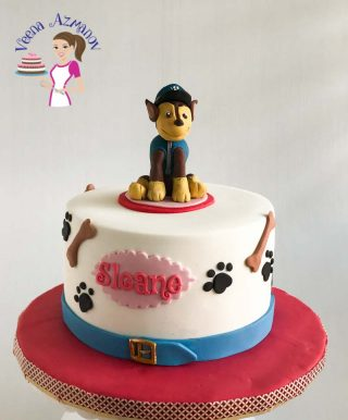 PAW Petrol Cake with Chase Cake Topper – Video Tutorial